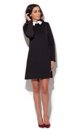 White collar black dress  by KATRUS Product photo
