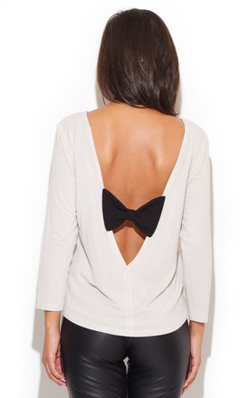 Back-bow Beige Blouse by KATRUS