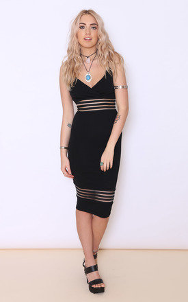 Kiara black mesh detail dress by Dolly Rocka Product photo