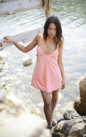 Coral Sun Dancer Coin Playsuit by Indigo East