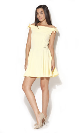 Yellow dress with bows by KATRUS Product photo