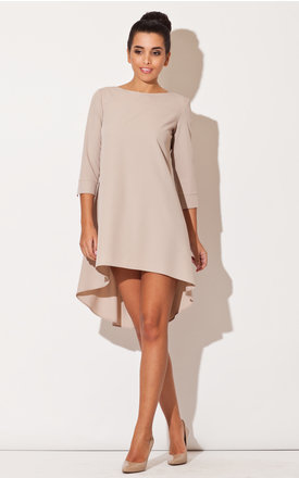 Beige long back dress by KATRUS Product photo