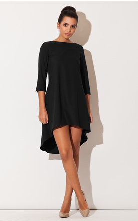 Black long back dress by KATRUS Product photo