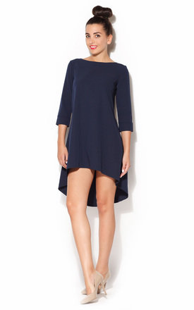 Navy Blue long back dress by KATRUS