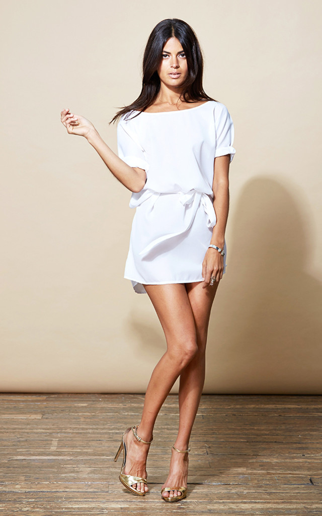 Ibiza Dress in White image
