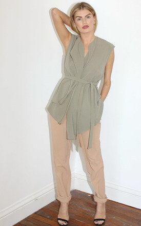 Khaki wrap top by Never Fully Dressed Product photo