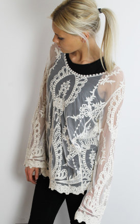 White lace top by Scarlett Black London Product photo