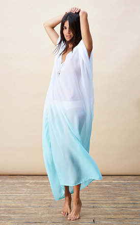 Jordana kaftan in white and mint ombre by Dancing Leopard Product photo
