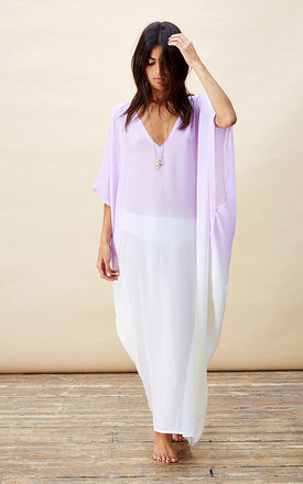 Jordana kaftan in lilac and lemon ombre by Dancing Leopard Product photo