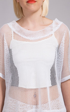 White Mesh See You Through Top by NO FIXED ABODE