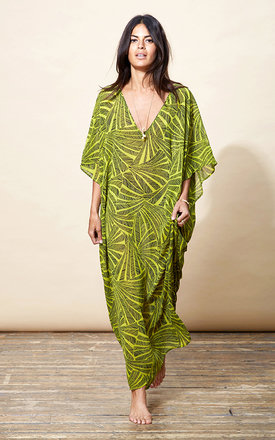 Jordana kaftan in palm print by Dancing Leopard Product photo