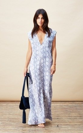 Quintino maxi dress in grey snake by Dancing Leopard Product photo