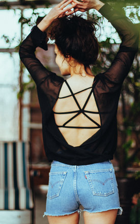 Xenia cotton stretch bralette by ESSENTIALS FOR ZULA Product photo