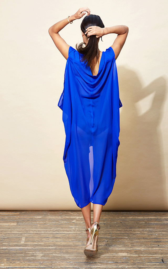 Cruz Poncho in Royal Blue image