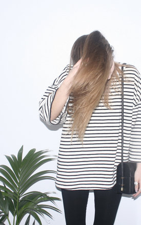 Stripe oversize sweater top by Daze Product photo