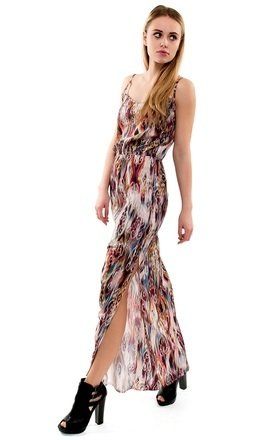 Ethnic print cross back maxi dress by URBAN TOUCH Product photo