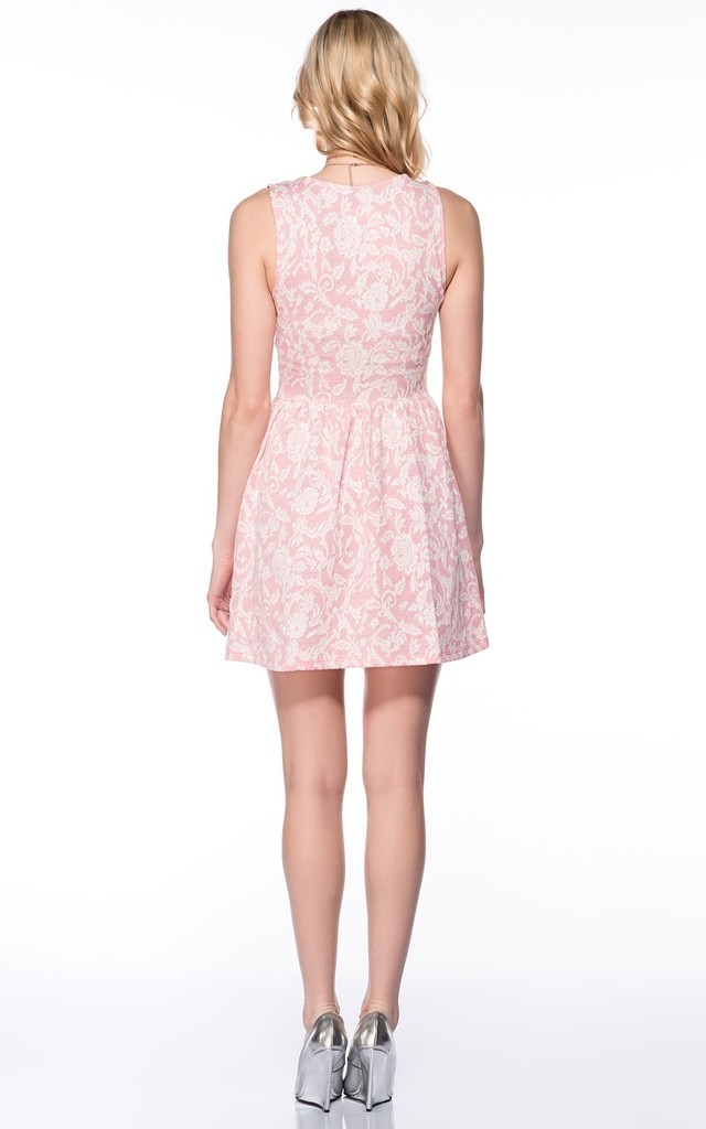 Jersey Fabric Floral Skater Dress by URBAN TOUCH