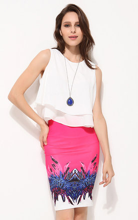 Jersey fabric mirror print pencil skirt by URBAN TOUCH Product photo