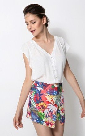 Tropical print skort by URBAN TOUCH Product photo
