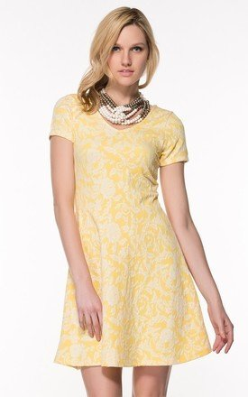 Jersey Fabric Cap Sleeve Skater Dress by URBAN TOUCH