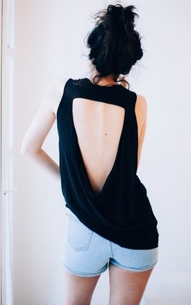 Allegra sleeveless top - black by ESSENTIALS FOR ZULA Product photo