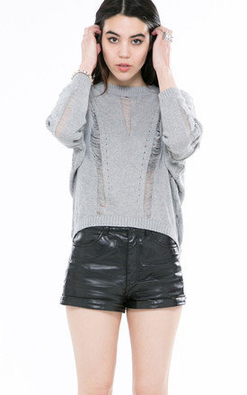 Grey ladder sweater by Daze Product photo