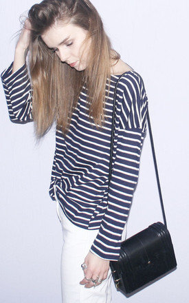 Navy stripe top by Daze Product photo