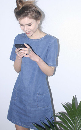 Denim shift dress by Daze Product photo