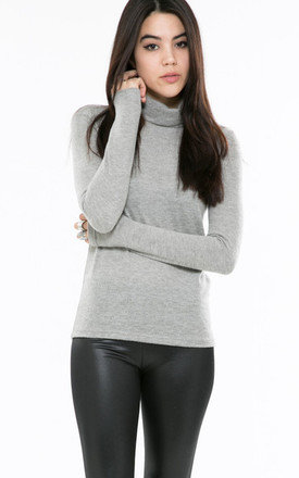 Soft grey turtleneck jumper by Daze Product photo