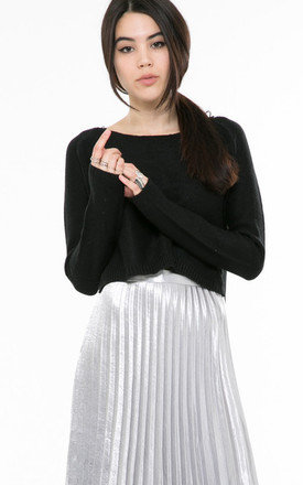 Black knit crop jumper by Daze Product photo