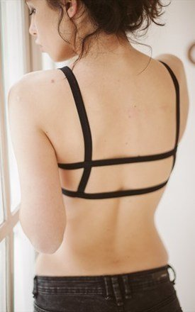 Co-existence cotton bralette - black by ESSENTIALS FOR ZULA Product photo