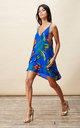 Samba Dress in Blue Tropical by Dancing Leopard