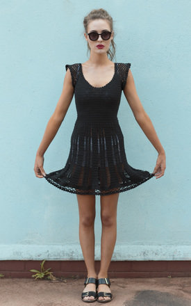 Karroo sweetheart dress black  by LAM & Co Product photo