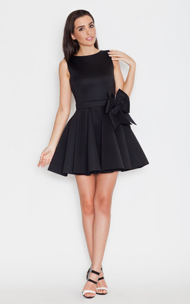 Black big bow dress by KATRUS