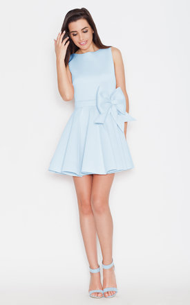 Blue big bow dress by KATRUS Product photo