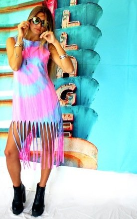 Tie dye tallulah pastel dress by Elsie & Fred Product photo