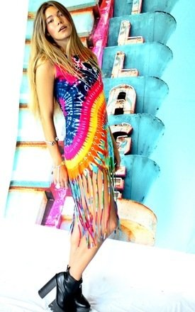 Tie dye tallulah dress by Elsie & Fred Product photo