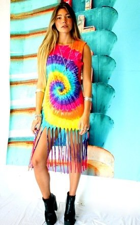 Tie dye tallulah kaleidoscope dress by Elsie & Fred Product photo