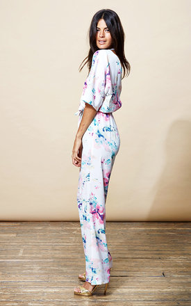 Kimono jumpsuit in water lily by Dancing Leopard Product photo