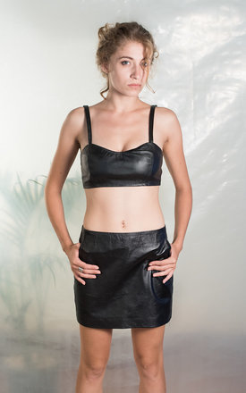 Black leather skirt by TIA Product photo