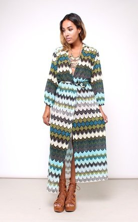 70s inspired maxi wrap dress  by House of Jam Product photo