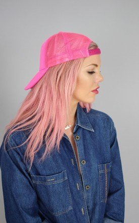 Bright pink mesh back cap by Cats got the Cream Product photo
