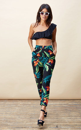 Fabiana pants in black tropical by Dancing Leopard Product photo