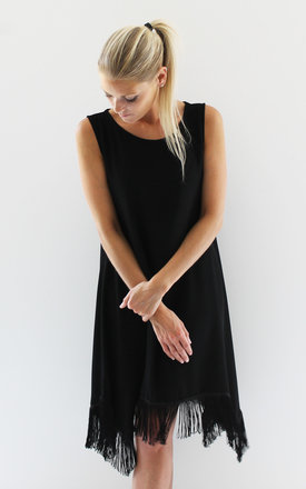 Sleeveless tassel fringe dress by Scarlett Black London Product photo
