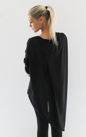 Black drape back top by Scarlett Black London Product photo