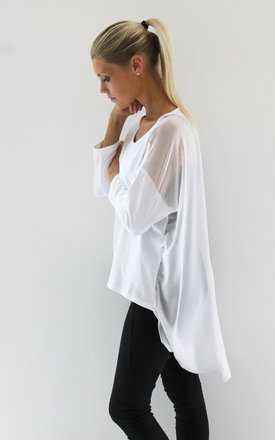 White drape back top by Scarlett Black London Product photo