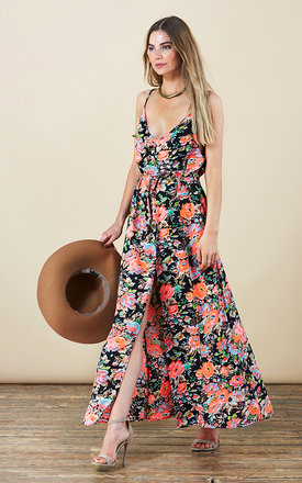 Split leg maxi in floral print by Dancing Leopard Product photo