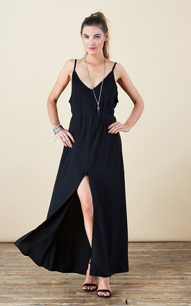 Split leg maxi in black by Dancing Leopard Product photo