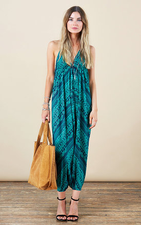 Genie jumpsuit in green aztec by Dancing Leopard Product photo
