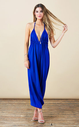 Genie jumpsuit in cobalt blue by Dancing Leopard Product photo